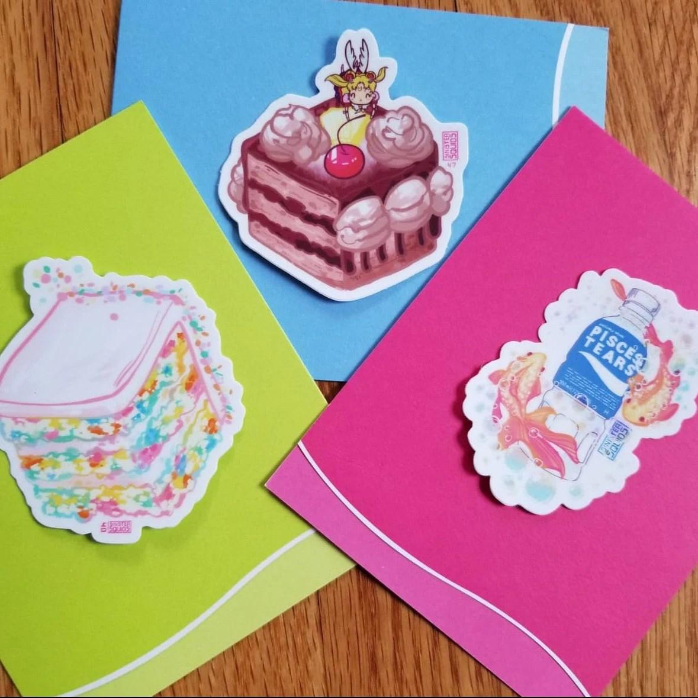Sailor Moon Chocolate Cake 3 Waterproof Aesthetic Anime Stickers Happy Birthday Otaku Gift And Anime Lover Laptop Water Bottle