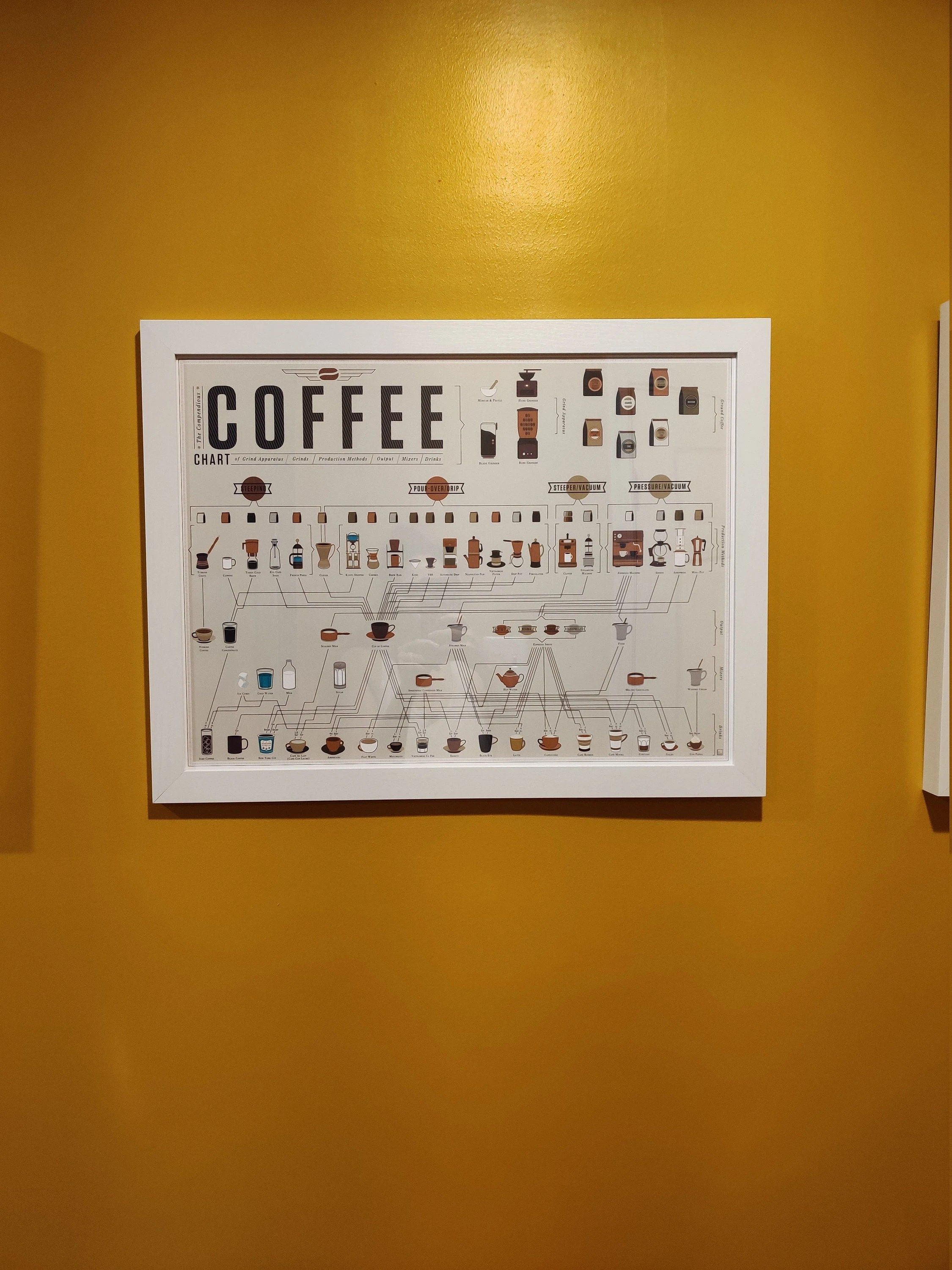 the compendious coffee chart poster 24 x18