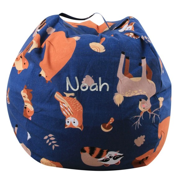 Woodland Stuffed Animal Storage Bean Bag
