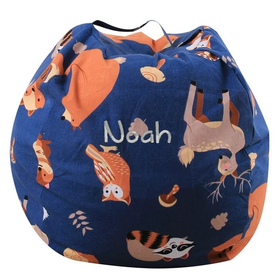 Woodland Stuffed Animal Storage Bean Bag