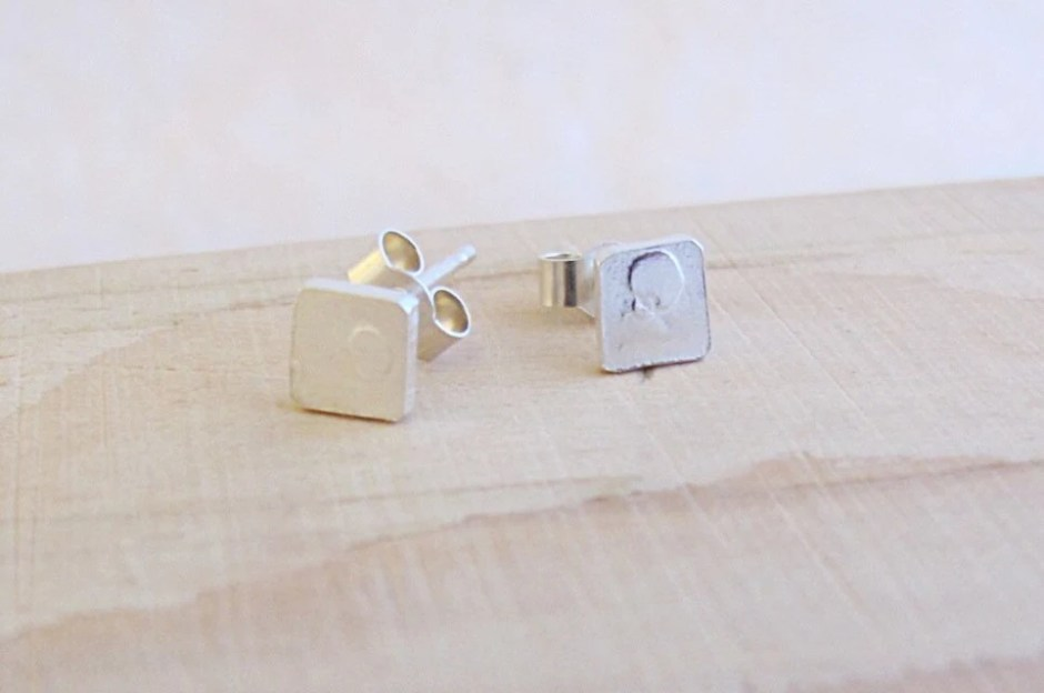 Sterling silver square st...
