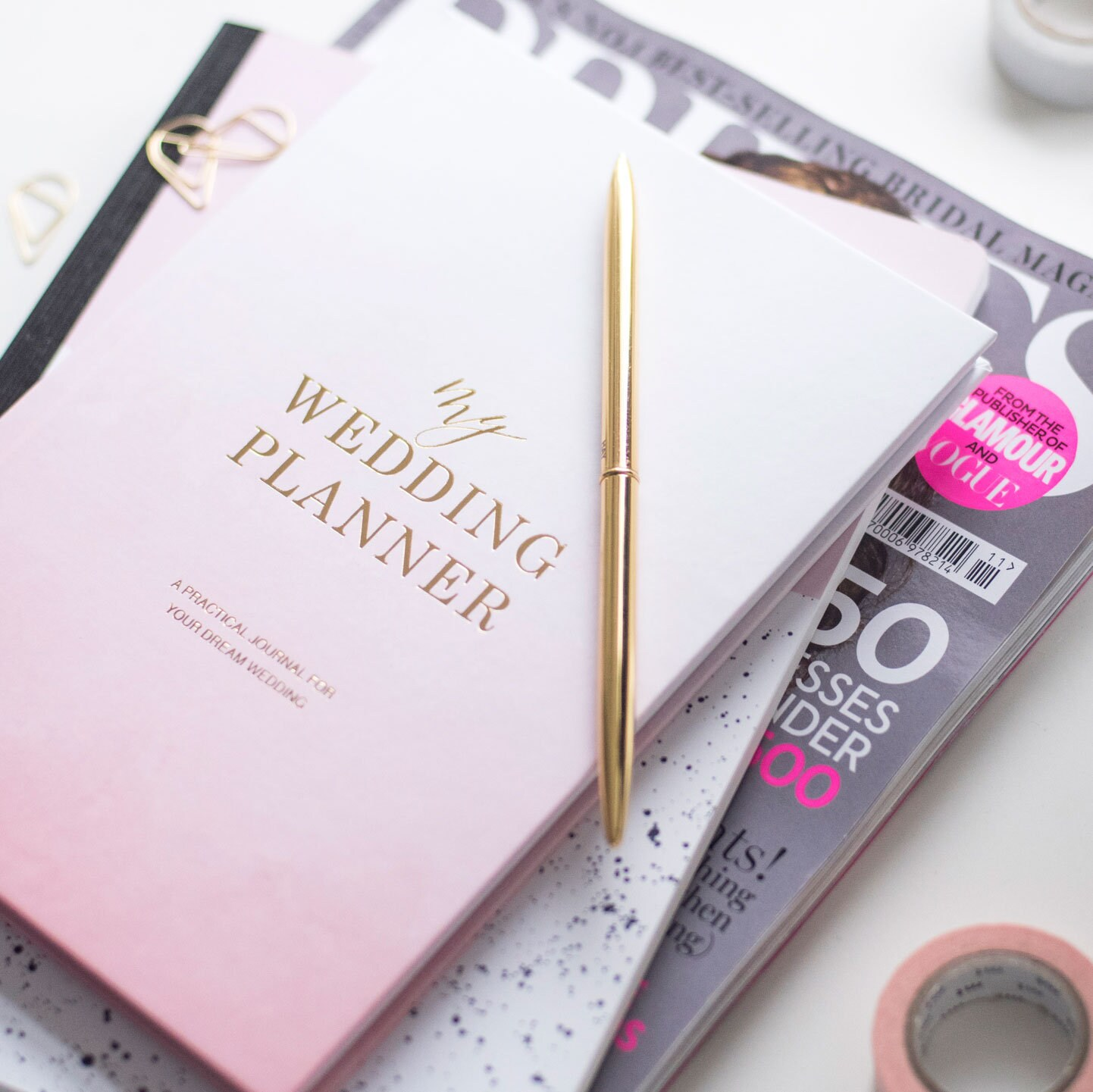 Luxury Watercolour Wedding Planner Book Engagement T For