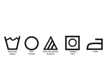 Soins étiquette clip art linge symboles clipart icônes de