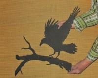 Raven wall art | Etsy