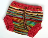 Hand knitted wool soaker,...