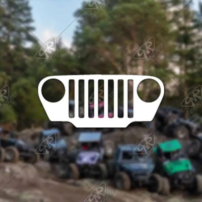 DECAL - [Jeep TJ Grill] -...