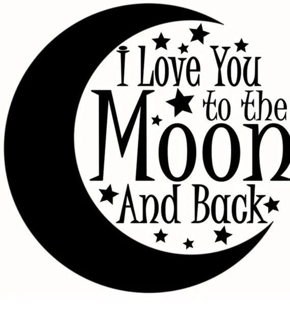Download I Love You to the Moon and Back SVG Cut File baby svg design