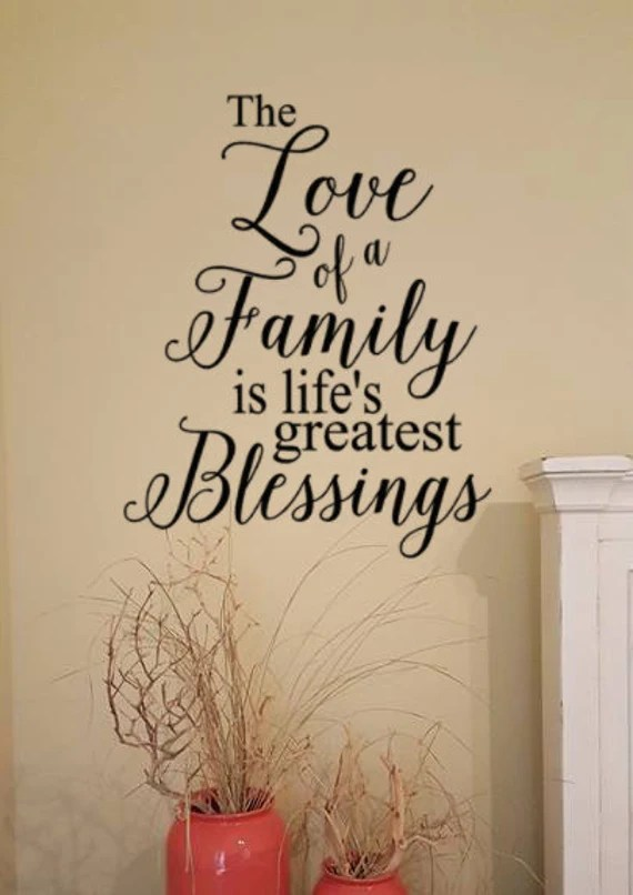 Download Items similar to Vinyl Wall Decal Words, The Love of a ...