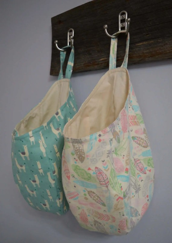 Easy Sew Hanging Storage Basket Pattern Download