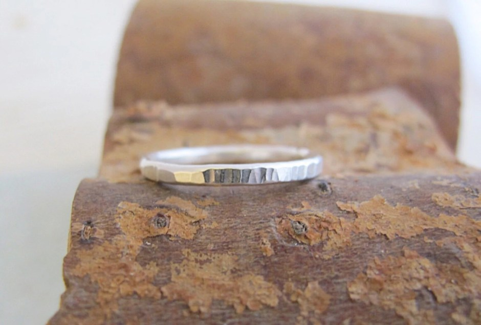 Sterling silver thin band...