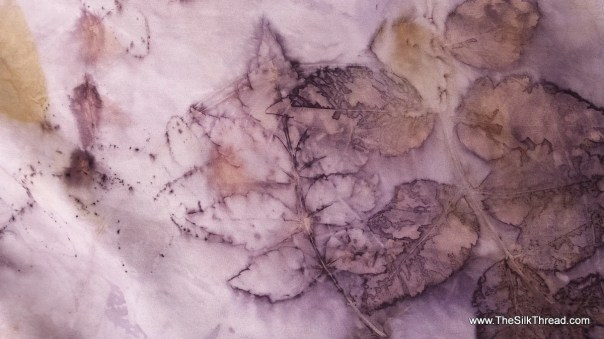 """Silk Scarf, Designs & Colors directly from ECO Printed Leaves on Silk, totally Natural, Organic Art By Artist, 8"""" x 72"""", FREE ship USA"""