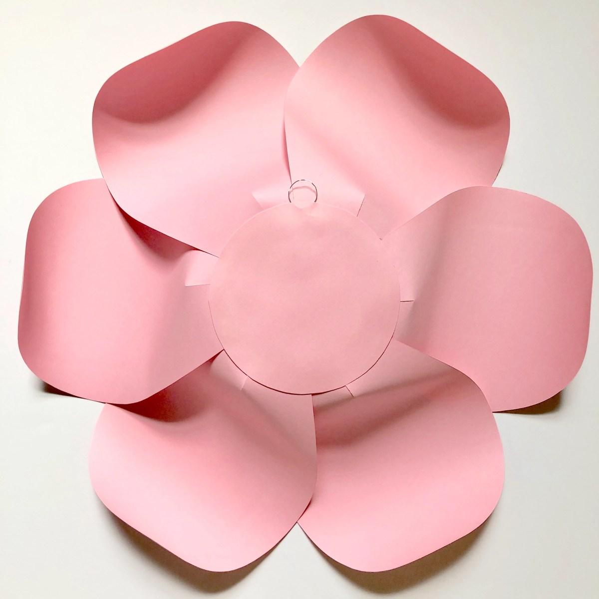 paper flower back