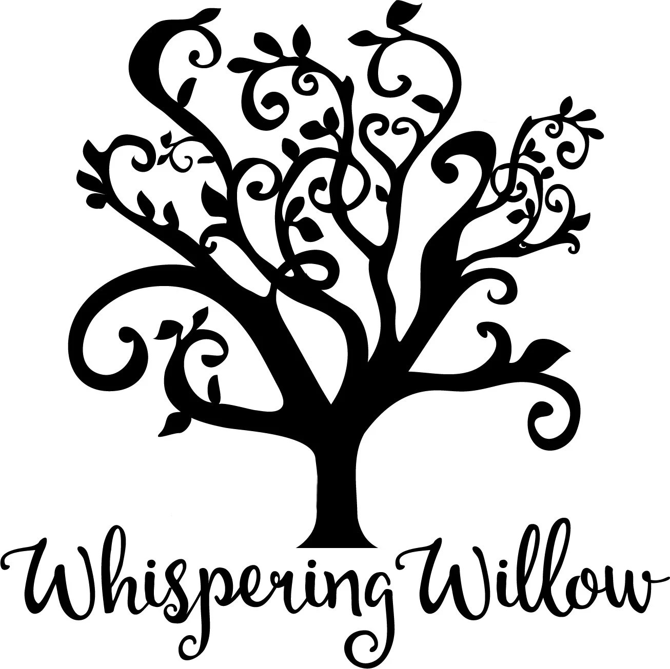 willow tree clipart [ 1306 x 1305 Pixel ]