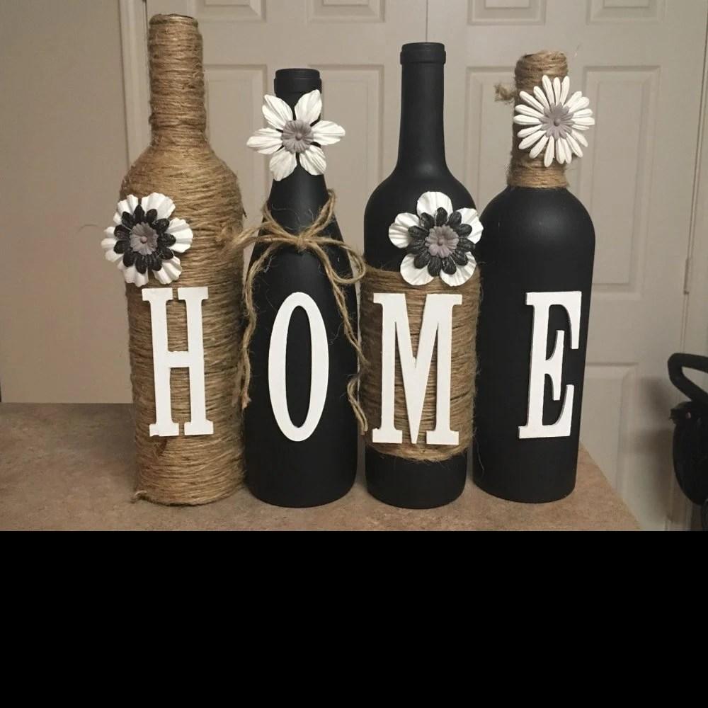 Wine bottle decor Hand paintedfamilyCustom decorated wine  Etsy