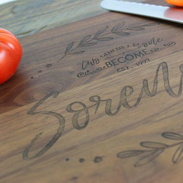 Board Christmas Cutting Personalized Win