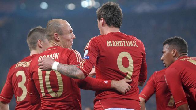 Robben Mandzukic - Juventus v Bayern - Champions League 2012/2013 (AP/LaPresse)