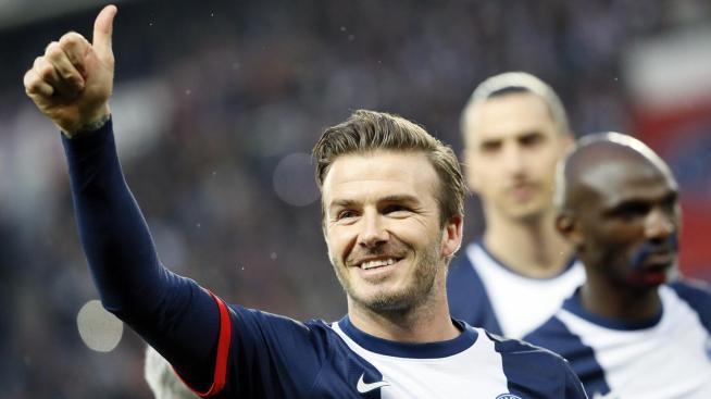 David Beckham avec le PSG en 2013
