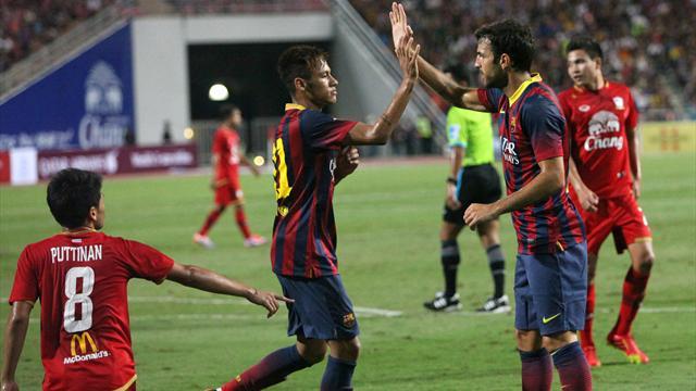 Neymar scores first for club in Barca romp -Football-Liga