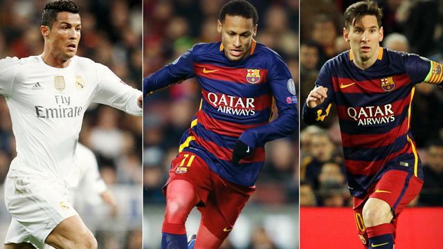 Ballon d'Or 2015 : Messi, Ronaldo et un petit nouveau nommé… Neymar