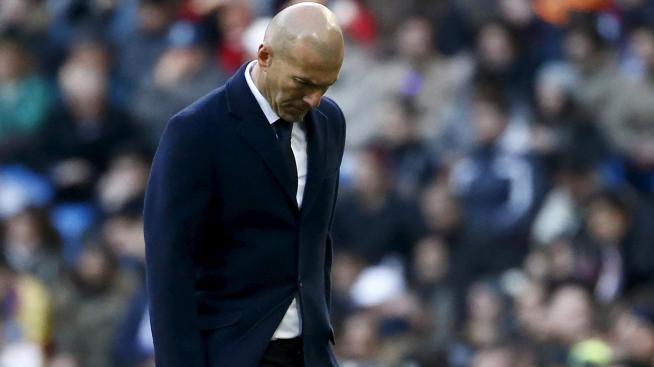 Zinedine Zidane suffered a first defeat as Real Madrid coach.