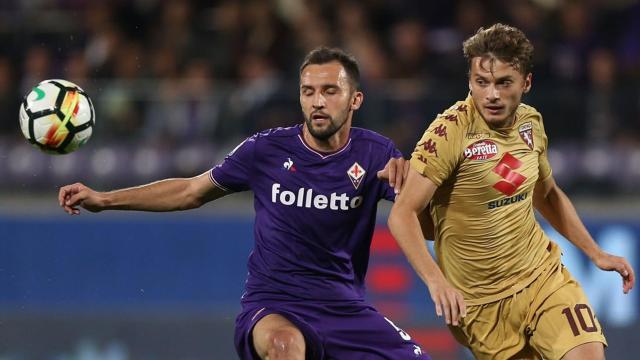 Ljajic, Badelj - Fiorentina-Torino - Serie A 2017/2018 - Getty Images