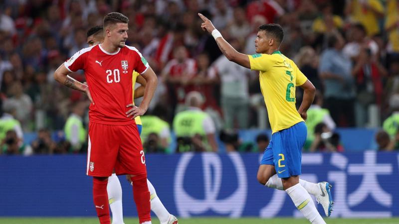 Thiago Silva, Sergej Milinkovic-Savic, Serbia-Brasile, Getty Images