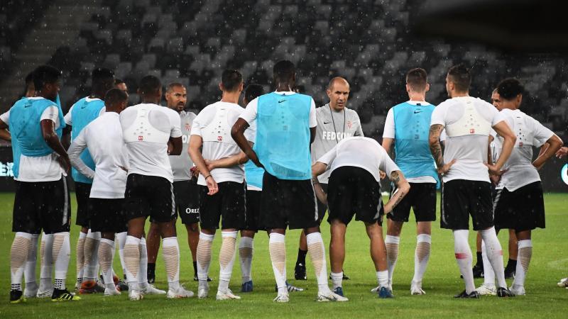 Leonardo Jardim et les joueurs de l'AS Monaco