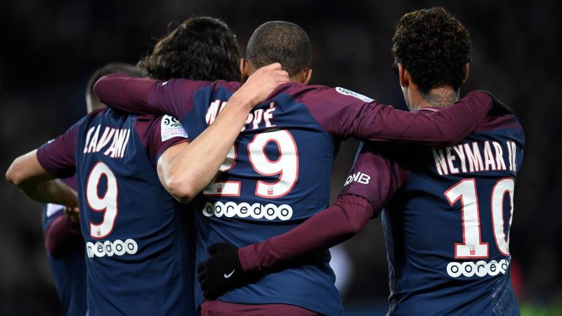 Edinson Cavani, Kylian Mbappé et Neymar (PSG)
