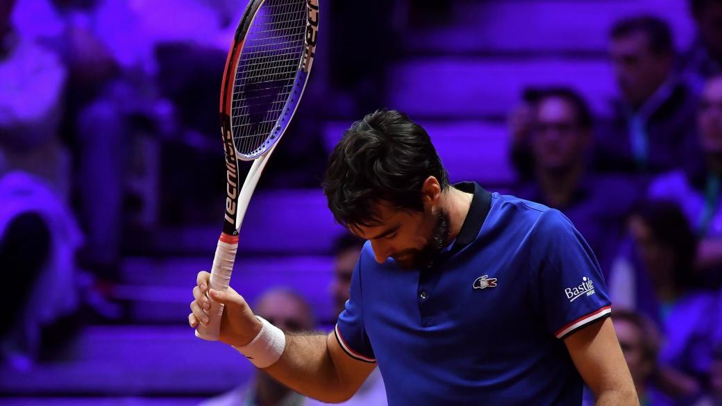 Jérémy Chardy dépité face à Borna Coric en finale de la Coupe Davis