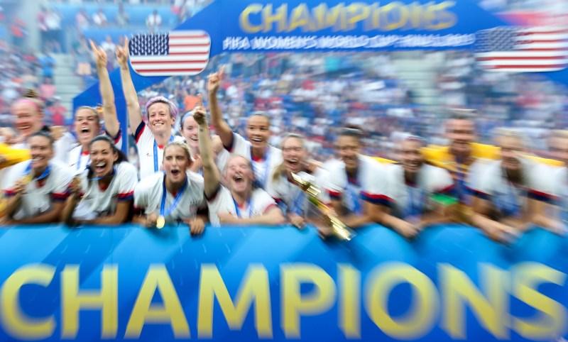 Megan Rapinoe (attaquante et capitaine des Etats-Unis, vainqueurs de la Coupe du Monde après leur victoire 2-0