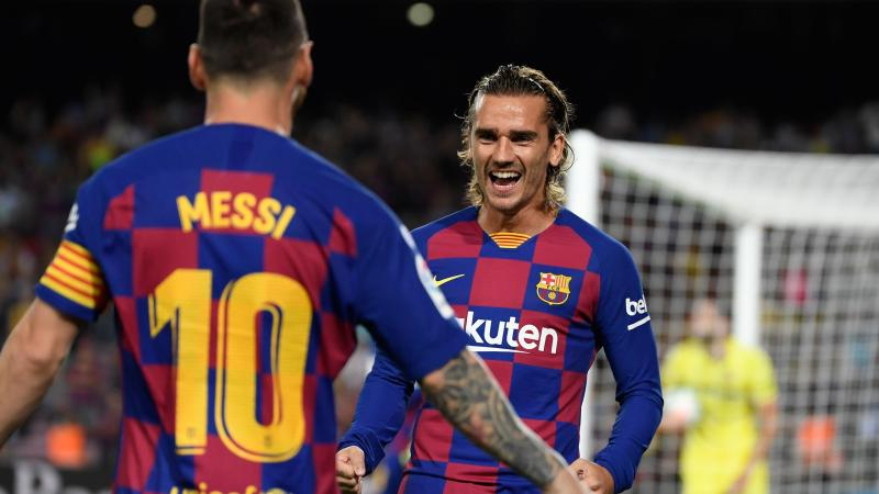 Lionel Messi et Antoine Griezmann