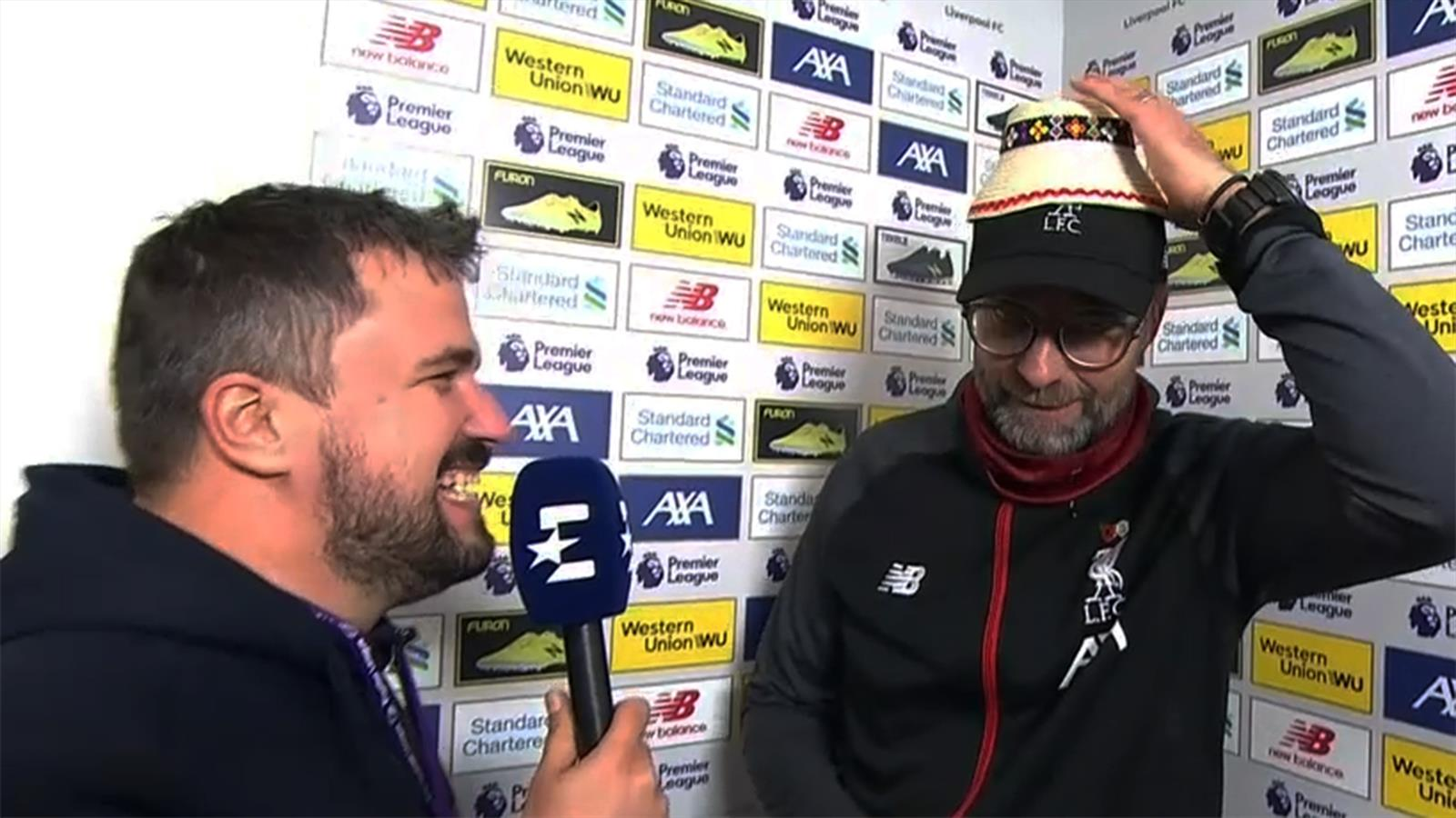 VIDEO - FC Liverpool: Glücksbringer für Jürgen Klopp bei Eurosport-Interview - Premier League - Video Eurosport Deutschland