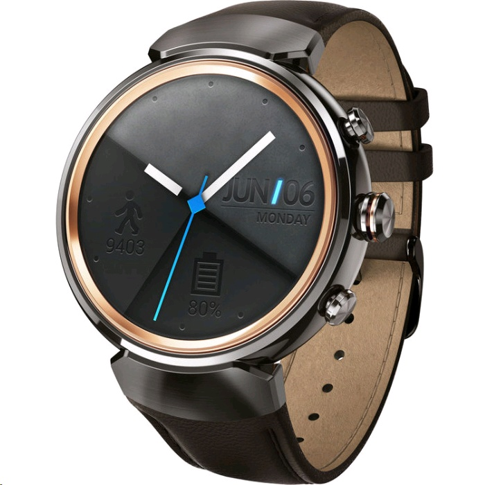 ASUS ZenWatch 3 (Men) - WI503Q (Gunmetal. Leather Band) - EXPANSYS Taiwan