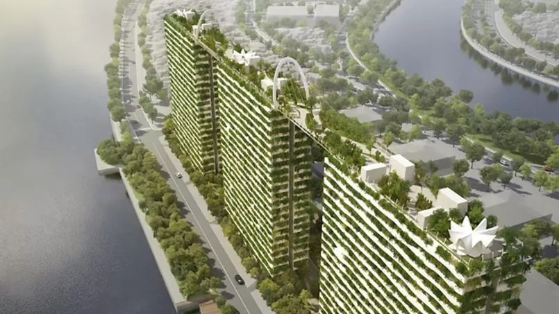 Au Vietnam des immeubles relis par des ponts ariens