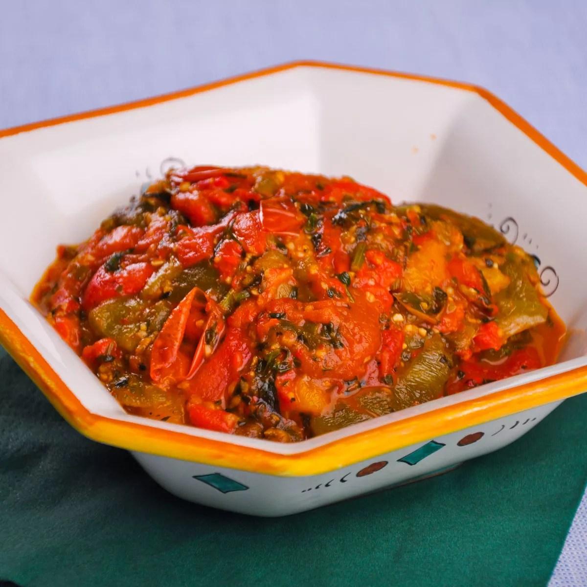 Recette salade marocaine aux poivrons  Cuisine  Madame Figaro