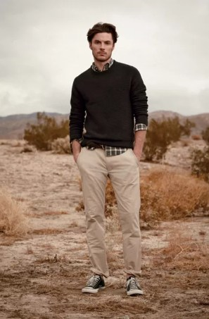 mens plaid shirt smart-casual