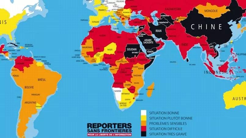 Captura de pantalla tarjeta descargable en el sitio Reportero sin fronteras.