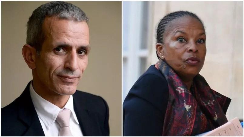 Le député PS de l'Essonne Malek Boutih et la garde des Sceaux Christiane Taubira.