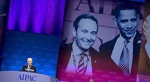 Le président israélien, Shimon Pérès, a prononcé un discours lors de la soirée d'ouverture de la conférence annuelle de l'Aipac, à Washington, le lundi 4 mai 2009.