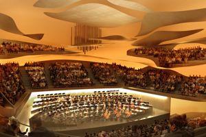 La grande salle de la Philharmonie de Paris (XIXe), une prouese acoustique.