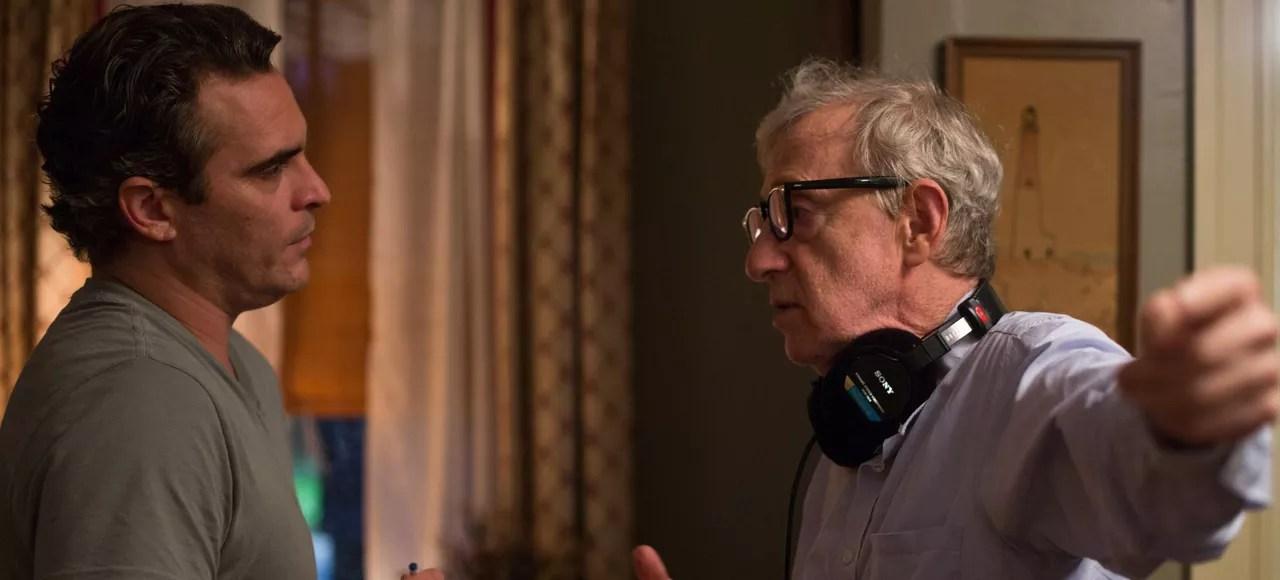 Woody Allen et Joaquin Phoenix sur le tournage de «L'homme irrationnel»