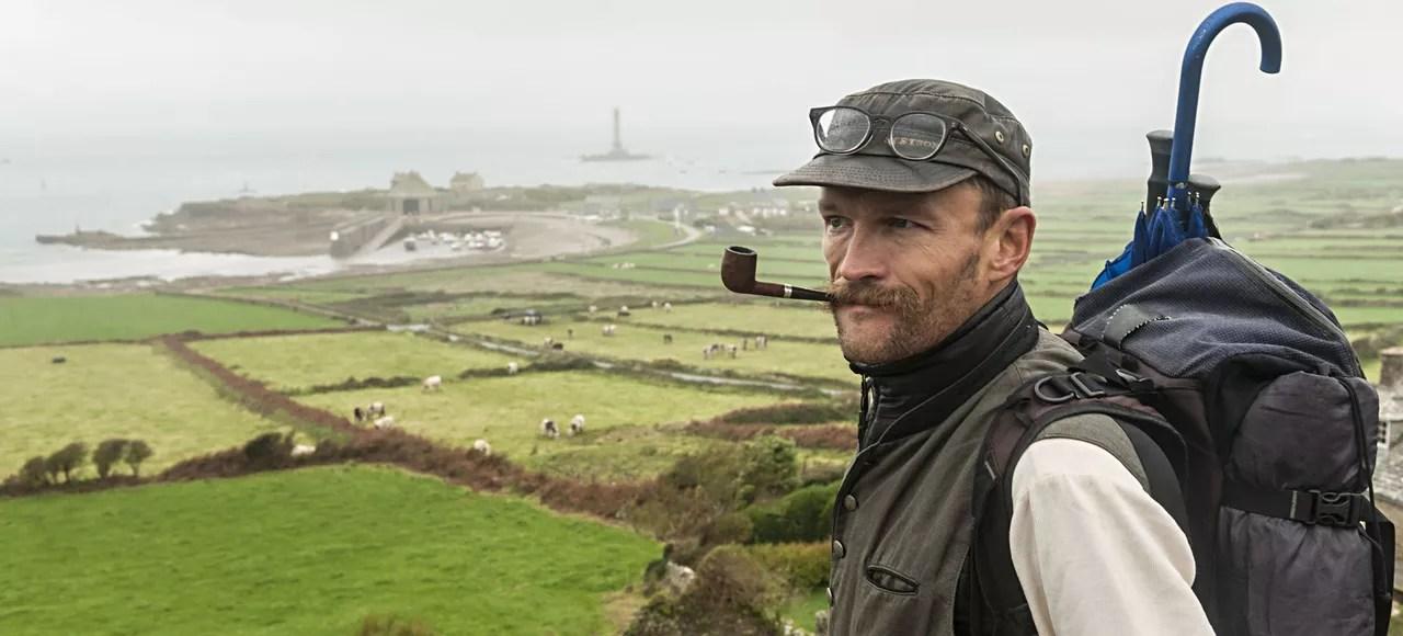Sylvain Tesson, à l'issue de son périple d'est en ouest qui l'a mené du Mercantour à la Normandie.