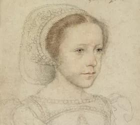 Marie Stuart enfant: portrait de François Clouet.