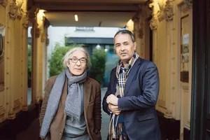 Boualem Sansal et Kamel Daoud, le 20 novembre 2018 à Paris.