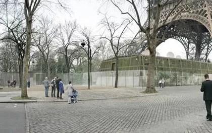 Une partie du mur anti-balles prévu pour l'automne prochain.