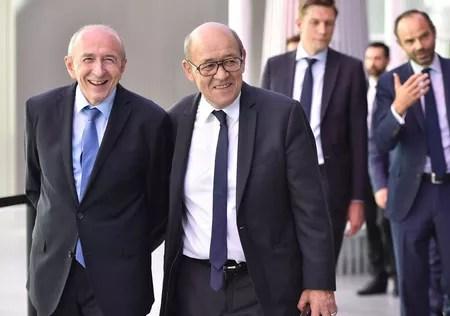Gérard Collomb et Jean-Yves Le Drian: deux frères à des postes clés du gouvernement.