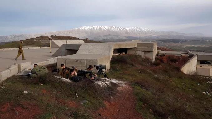 Des soldats israéliens sur le plateau du Golan.