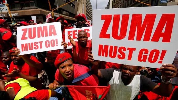Des opposants souhaitent le départ de Zuma.
