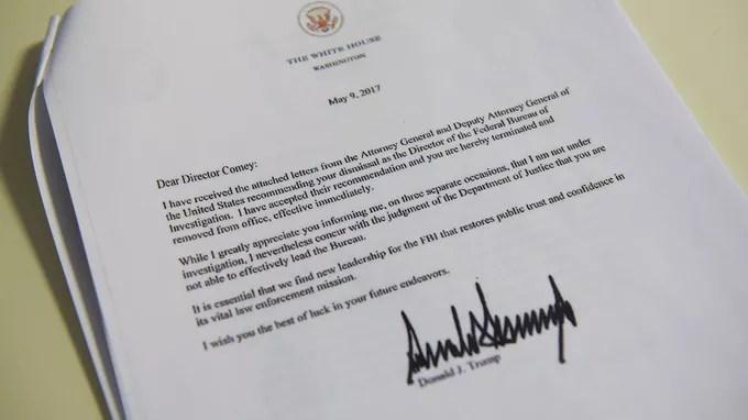 Un document signé par Donald Trump.