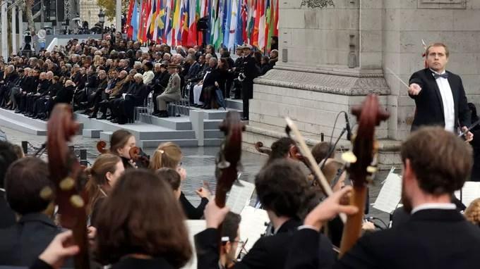 L'Orchestre des jeunes de l'Union européenne a jou» le <i> Boléro</i> de Ravel immédiatement après le discours du président.